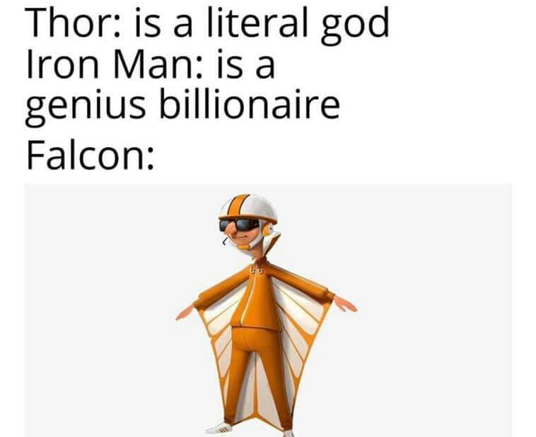 Memes Marvel cinematic universe Iron Man falcon Thor
