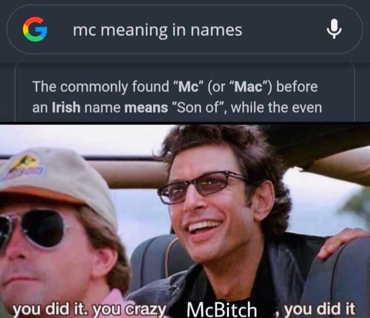 Memes mc Last name origin
