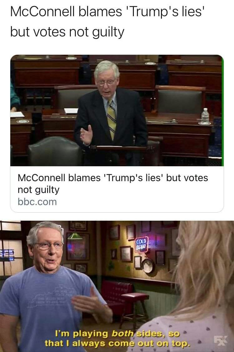 Memes Mitch McConnell playing both sides it's always sunny in Philadelphia