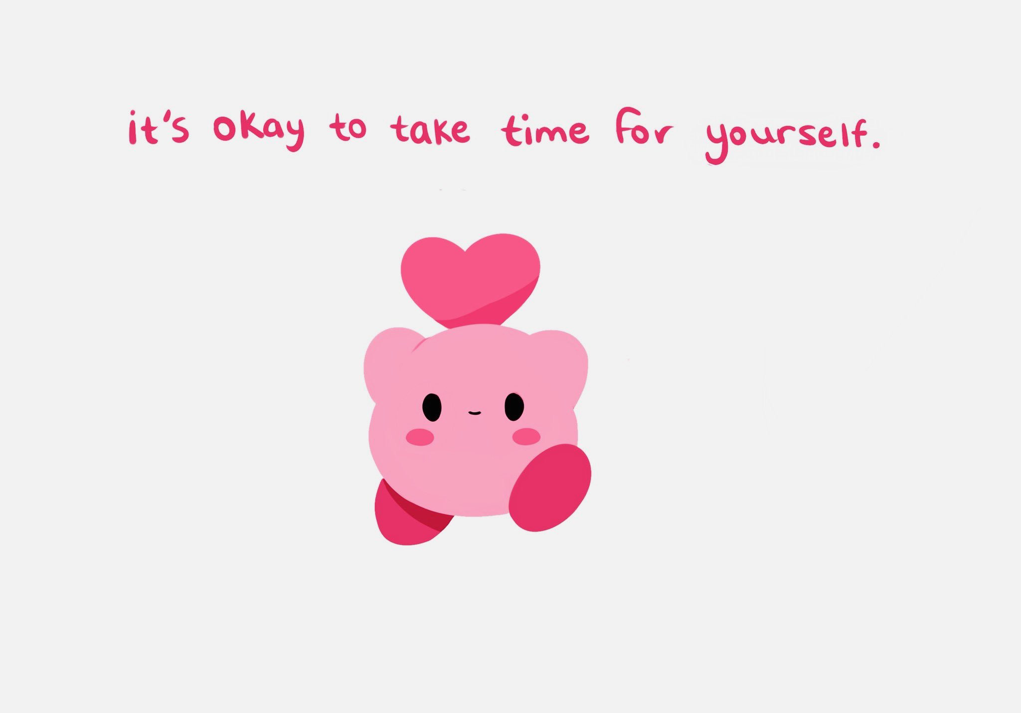 Memes Positivity meme Kirby from Nintendo