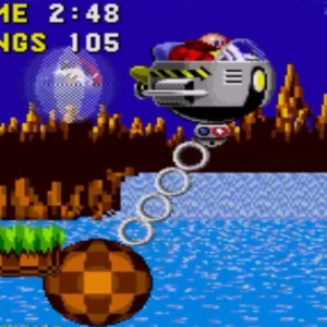 Egg Mobile-H green hill zone sonic the Hedgehog 1 Sega genesis Sega mega drive