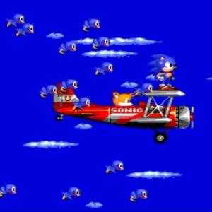 Sonic and tails flying plane Sonic the Hedgehog 2 Sega genesis Sega mega drive