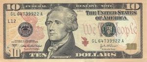 Alexander Hamilton ten dollar bill