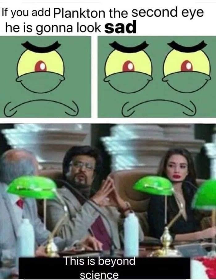 Memes Plankton SpongeBob SquarePants sad