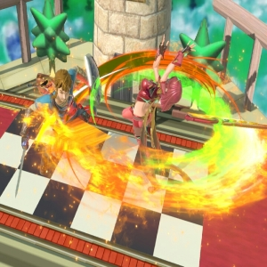 Pyra vs link fire circle super Smash Bros ultimate Nintendo Switch