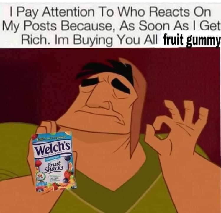 Memes Fruit gummy's