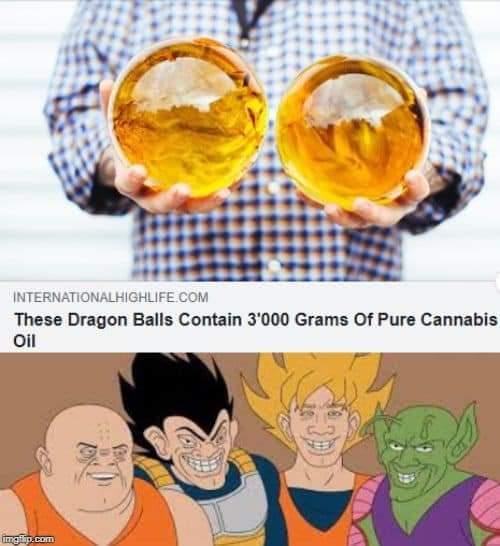 Memes Dragon Ball cannabis oil