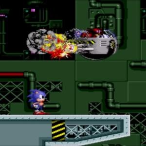 Sonic defeats Dr Eggman sonic the Hedgehog 1 Final Zone Sega genesis Sega mega drive