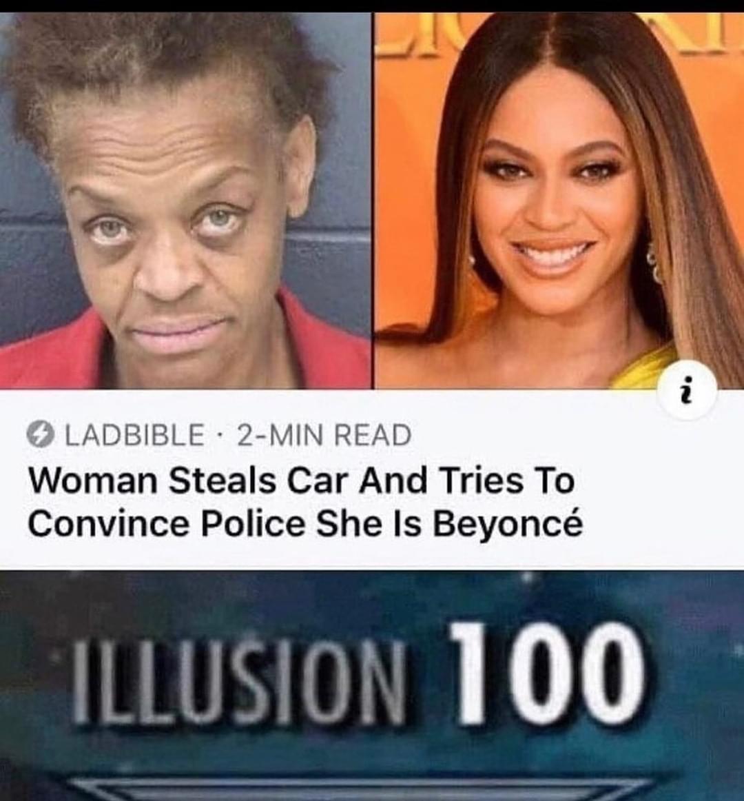 Memes Woman pretending to be Beyoncé