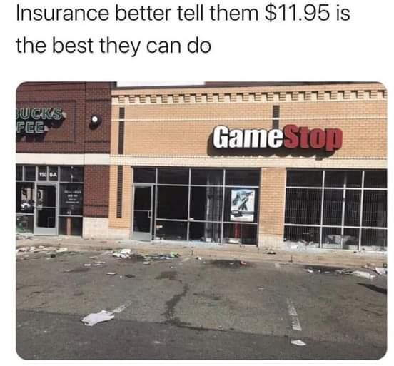 Memes GameStop insurance Company