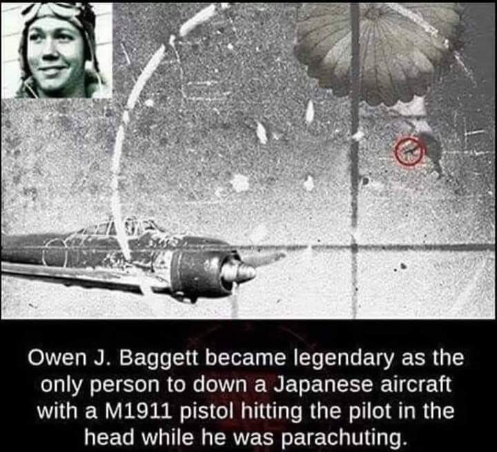 Memes World war two bad asses Japanese pilot taking out by parachuting American soldier