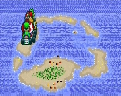 Koopa Beach 1 super Mario Kart snes Nintendo