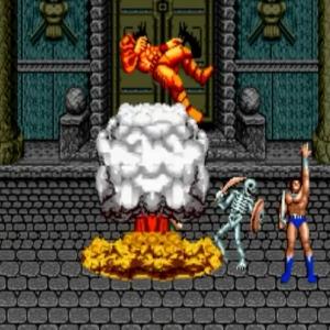 Ax Battler nuclear power Golden axe Sega genesis arcade Sega mega drive