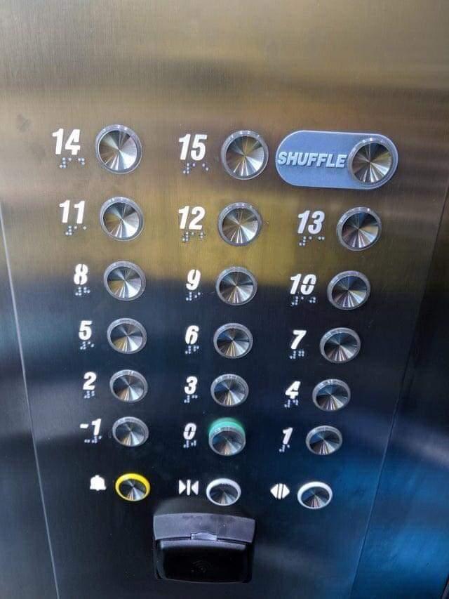 Memes Elevator shuffle button