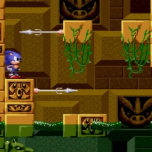 Sonic avoiding spikes Labyrinth Zone boss sonic the Hedgehog 1 Sega genesis Sega mega drive