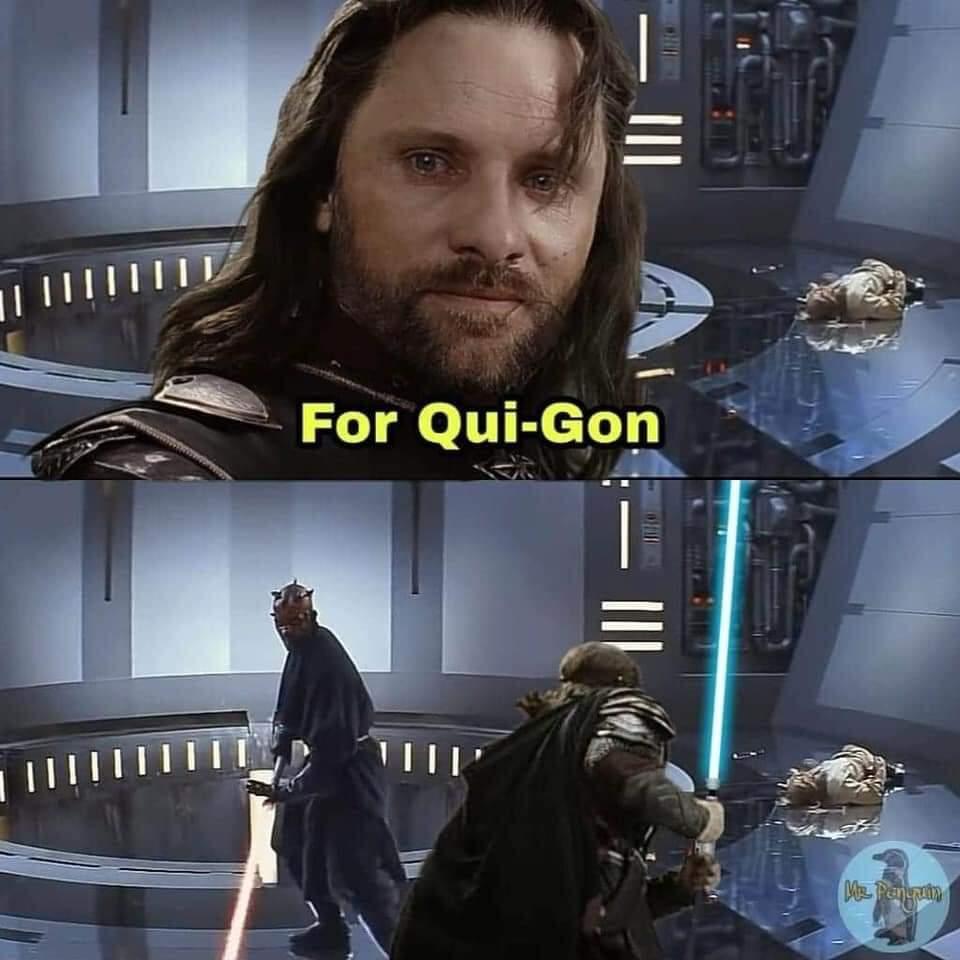 Memes Star Wars Qui Gon Jinn death