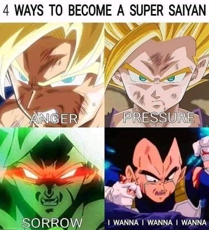 Memes Dragon ball Z how vegeta became a super Saiyan