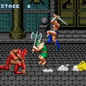 Death Adder vs Gilius Thunderhead and ax Battler golden axe Sega genesis arcade Sega mega drive