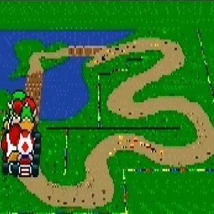 Donut Plains 2 super Mario Kart snes Nintendo
