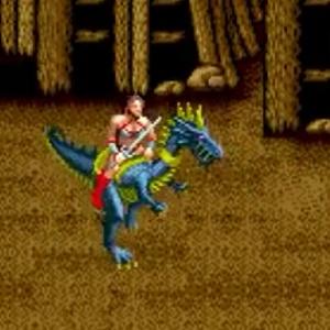 Blue dragon Tyris Flare golden axe Sega genesis arcade Sega mega drive