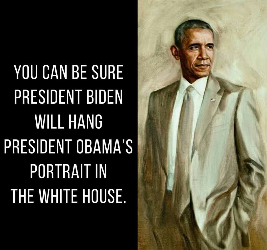 Memes Barack Obama's portrait in the White House