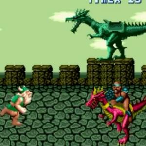 Enemy riding red dragon Golden axe Sega genesis arcade Sega mega drive