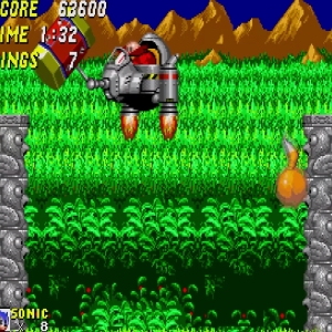 Hammer Eggman boss battle Sonic and tails Sonic the Hedgehog 2 Sega genesis Sega mega drive