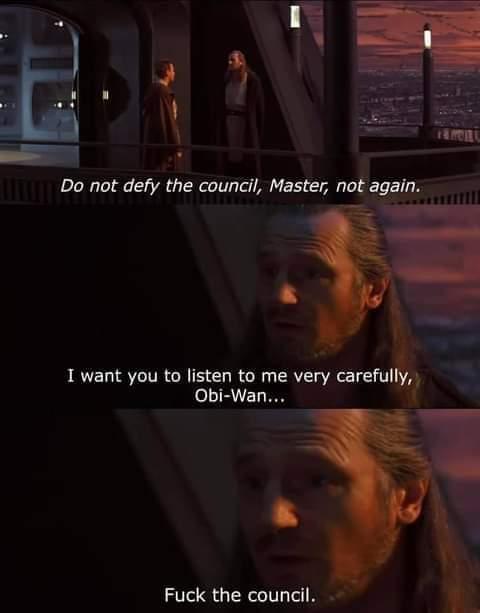 Memes Star Wars Jedi Council Qui Gon Jinn