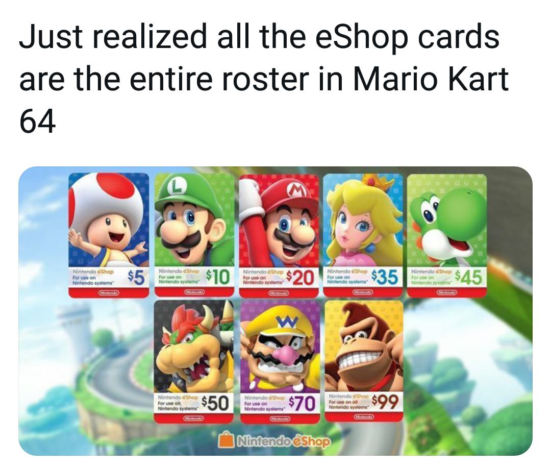 Memes Mario kart 64 cast