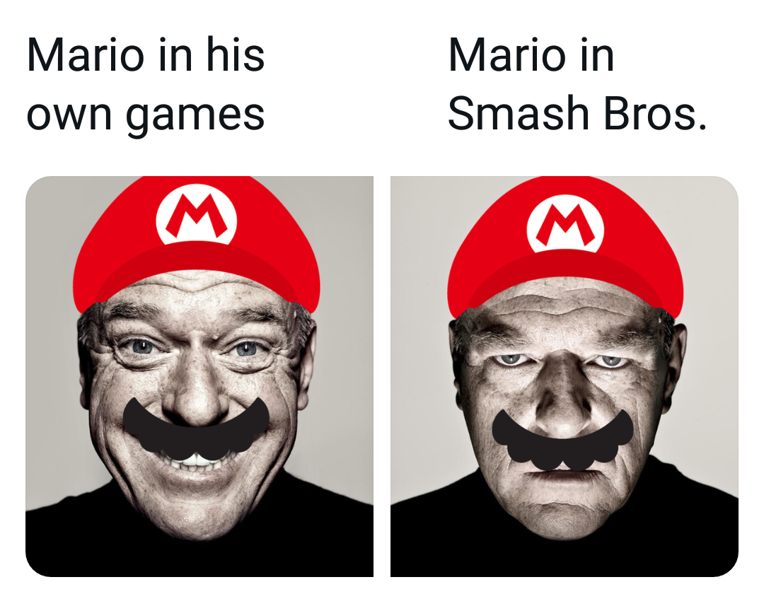 Memes Mario in super smash brothers
