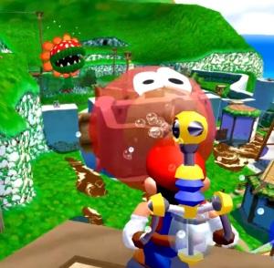 Petey Piranha second boss fight Super Mario Sunshine Nintendo GameCube
