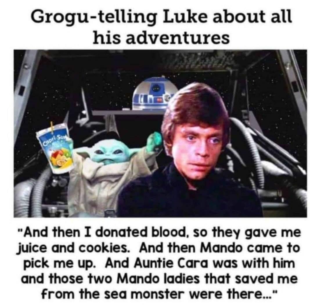 Memes grogu Star Wars the Mandalorian Luke skywalker Jedi score