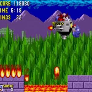 Dr robotnik Marble Zone boss sonic the Hedgehog 1 Sega genesis Sega mega drive