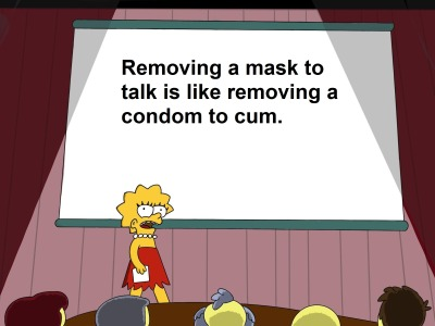 Memes Removing a mask to talk