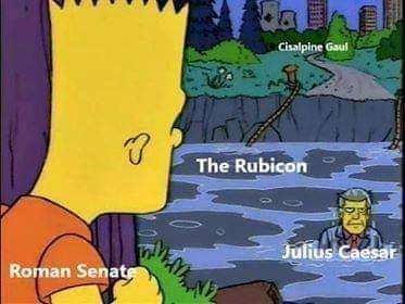 Memes Julius Caesar versus the Roman Senate