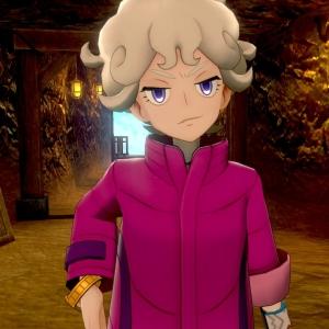 bede Pokemon sword Pokemon Shield purple coat Nintendo switch Game Freak cave