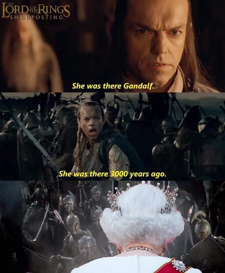 Memes Queen Elizabeth II Lord of the rings