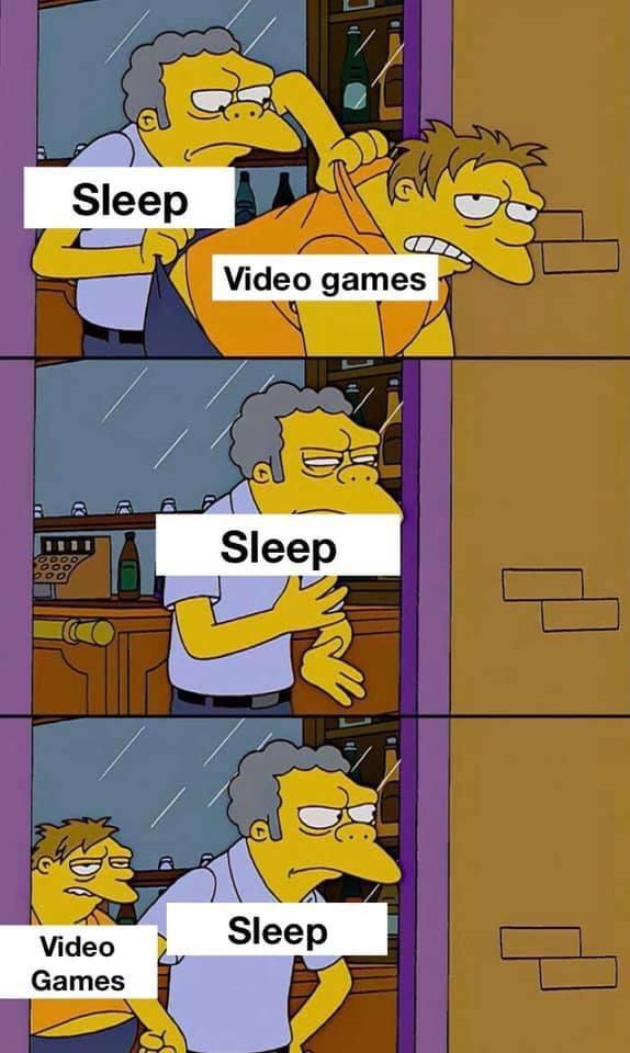 Memes Video games and sleep