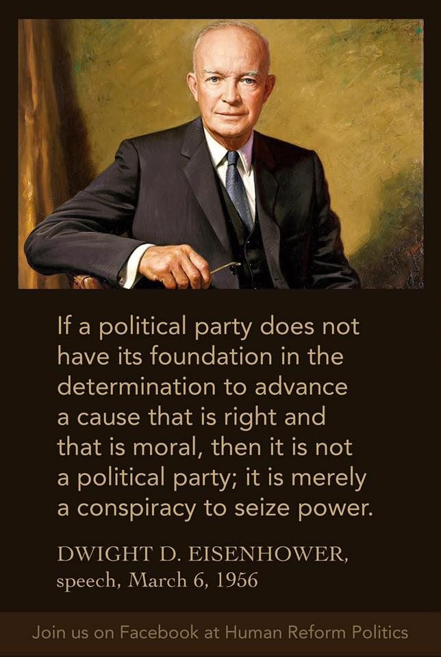 Memes D Eisenhower warns the republican party
