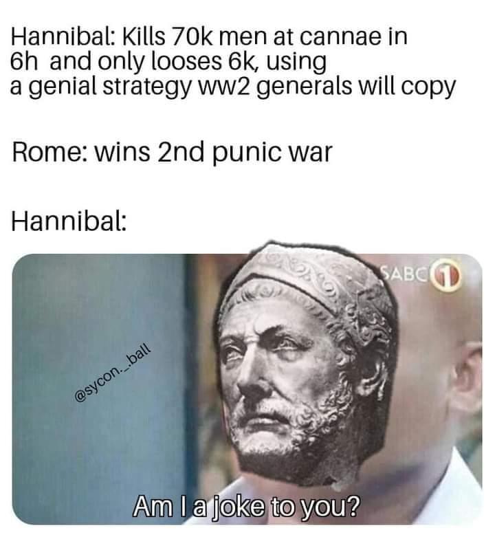 Memes hannibal versus the Roman Republic