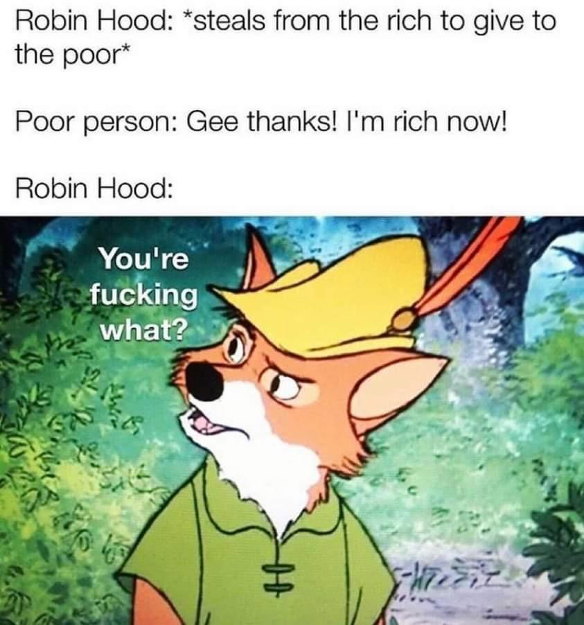 Memes Robin Hood versus GameStop