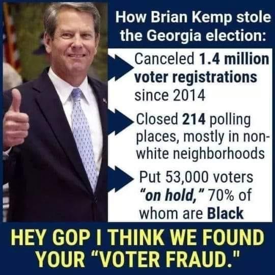 Memes Brian Kemp governor of Georgia voter fraud