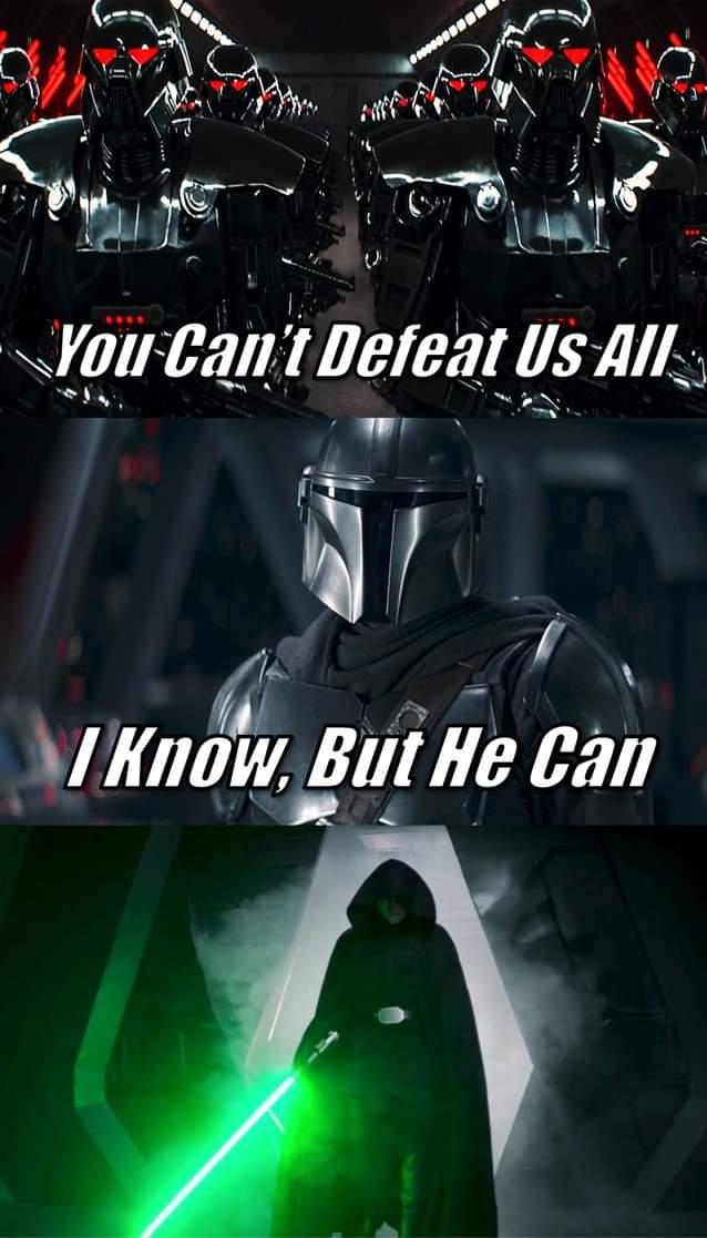 Memes  Luke skywalker the Mandalorian green light saber