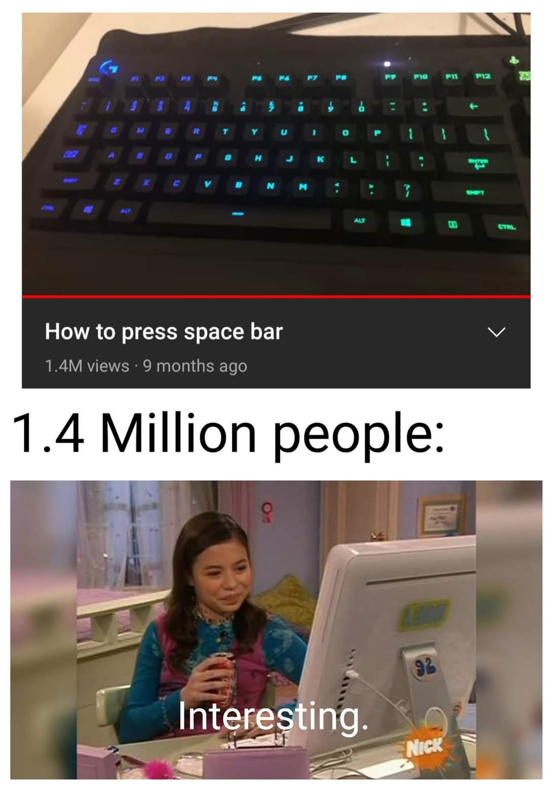 Memes How to press space bar