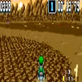 Mud track Choco Island 1 super Mario Kart snes Nintendo