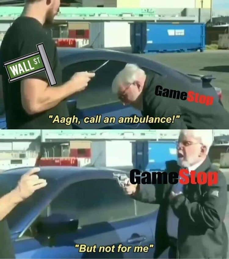 Memes GameStop recovering stock market