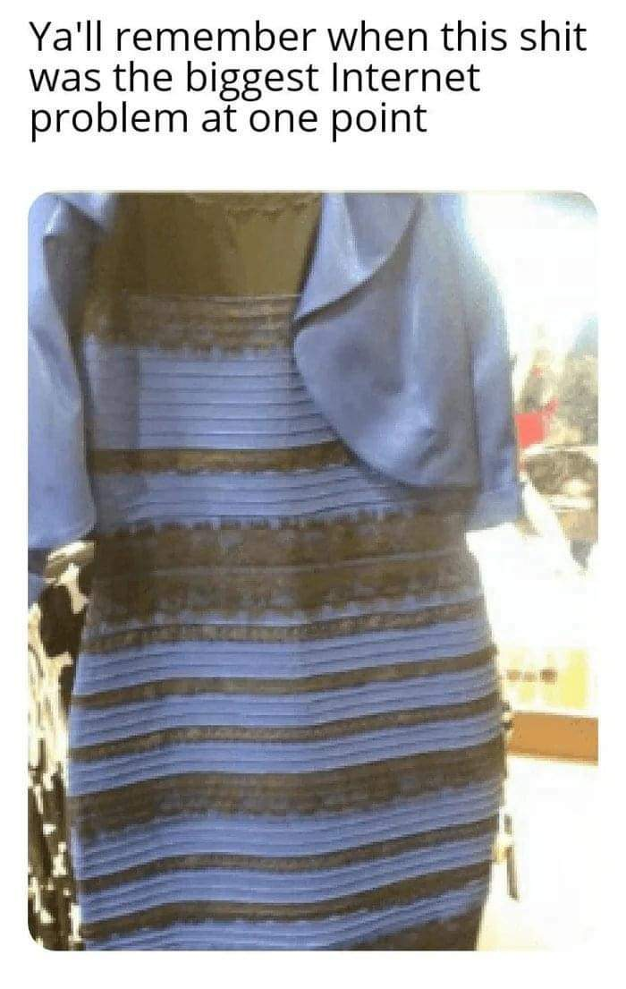 Memes Black and blue dress gold and white dress