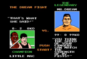 Mr dream replaces mike tyson Punchout nes Nintendo