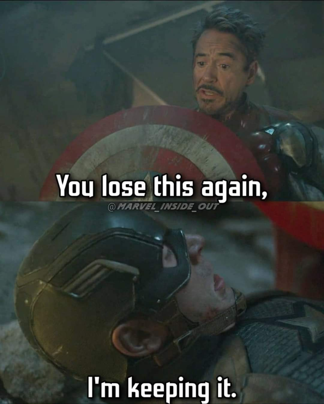 Memes Captain America and Iron Man shield