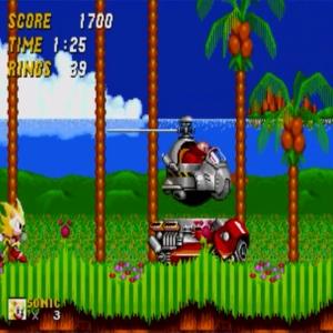Super sonic vs dr robotnik Sonic the Hedgehog 2 Sega genesis Sega mega drive